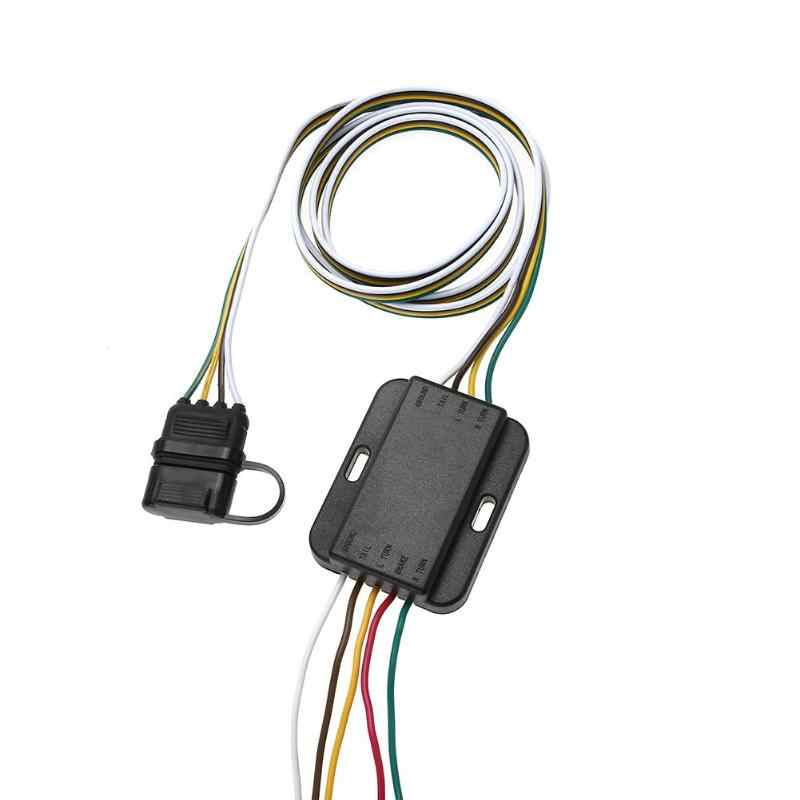12V 4 Pin US Trailer Hitch Wiring Cable Tow Harness Power Controller  Plug Trailer Wiring on