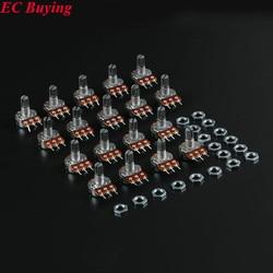 18 pces único kit de sortimento b500k b100k b50k b20k b10k b5k b2k b1k b1m 100 k 10 k 1 k 20 k 500 k 50 k 5 k para arduino