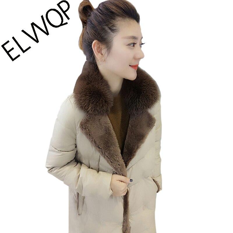 Luxo 2018 Novo Fox Grande Gola De Pele Jaqueta de Inverno Mulheres Casaco de Moda Feminina Estilo Europeu 90% de Pato Branco Para Baixo Parka LF841