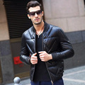 Aolamegs Leather Down Jacket Real Sheepskin Down Coat Fashion Mens Baseball Collar Winter Warm Genuine Leather Outwear 4XL 5XL