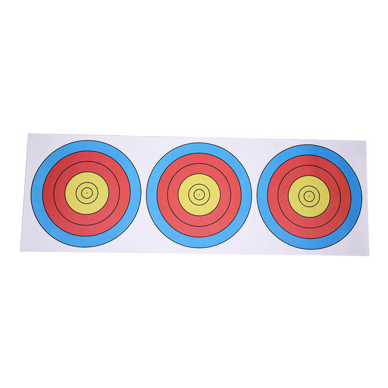 20 Pieces Shooting Target Paper Archery Target Paper for Hunting Practice Recurve Bow Crossbow