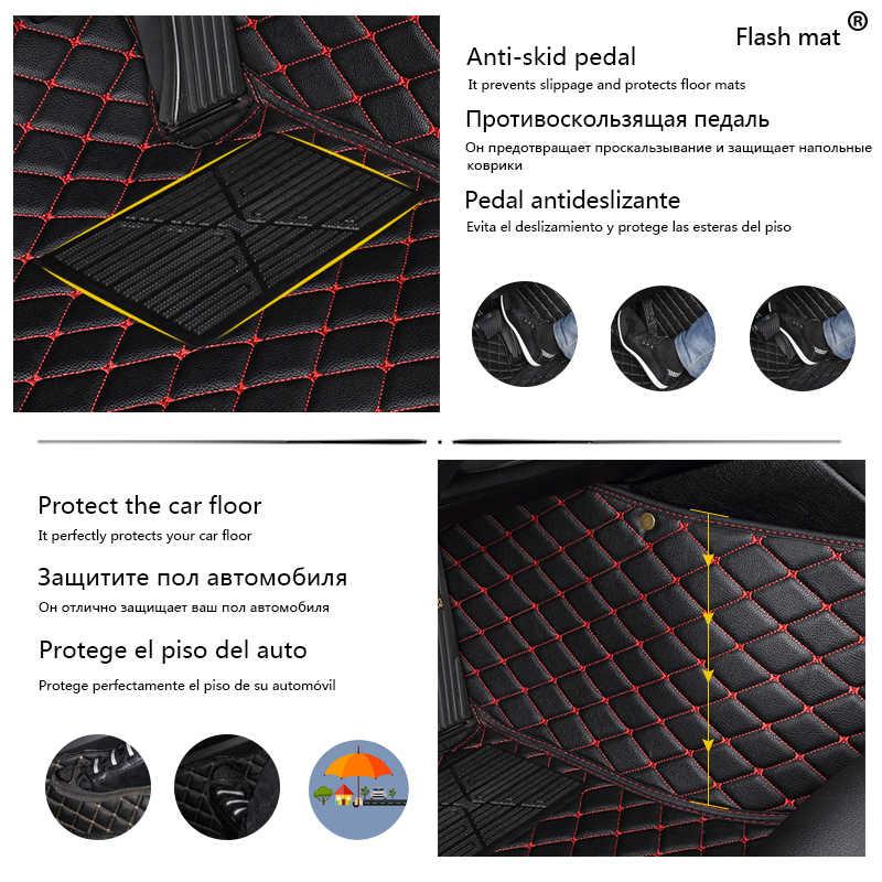 Flash Mat Lederen Auto Vloermatten Voor Toyota Corolla 2007-2014 2015 2016 2017 2018 Custom Auto Voet Pads auto Tapijt Cover