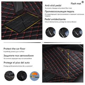 Image 2 - Flash in pelle mat tappetini auto per Toyota corolla 2007 2014 2015 2016 2017 2018 auto Personalizzate Rilievi del piede automobile tappeto copertura