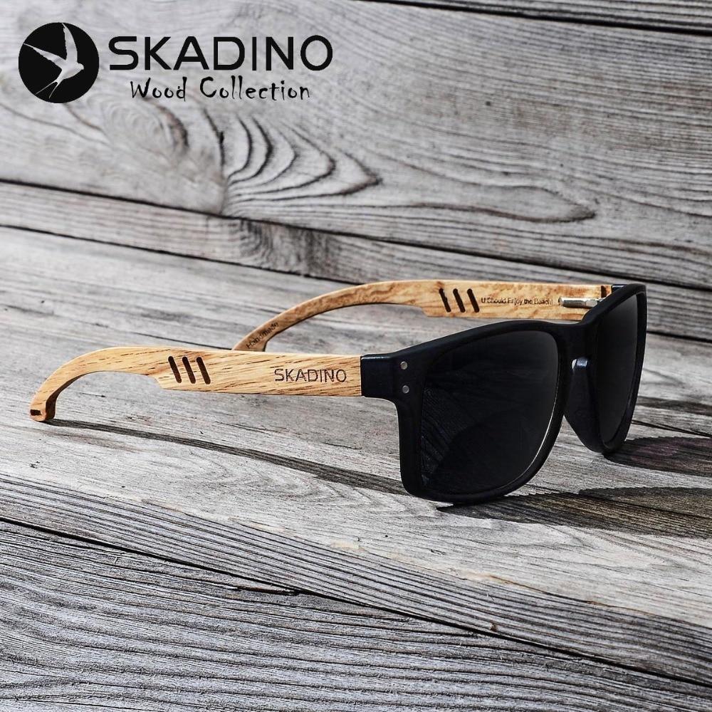 SKADINO Beech Wood Men Sunglasss
