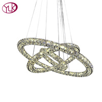 Free Shipping 2014 New Arrival Three Sides Crystal Led Chandelier Modren Brief Led Lamp Guarantee 100