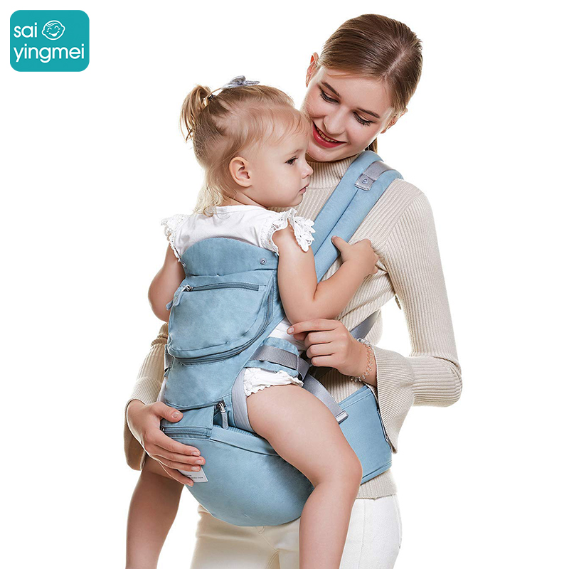 Saiyingmei Baby Carrier Ergonomic Carrier Backpack Hipseat For Newborn Prevent O-type Legs Sling Baby Kangaroos For 0-36 Months