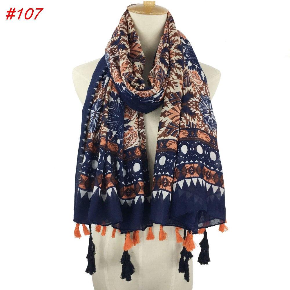 2018 Fringes Plain Hijabs Viscose Women Printed Shawl   Wrap   Large Head   Scarf   Islamic Ladie Tassels Design soft   scarves   hot sale