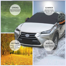 Автомобильный солнцезащитный козырек, 1 шт., 220x127 см, автомобильный ледяной мороз, защита от солнца, магнитный, водонепроницаемый, авто, лобовое стекло, снежное покрытие, Прямая поставка, 19Y15