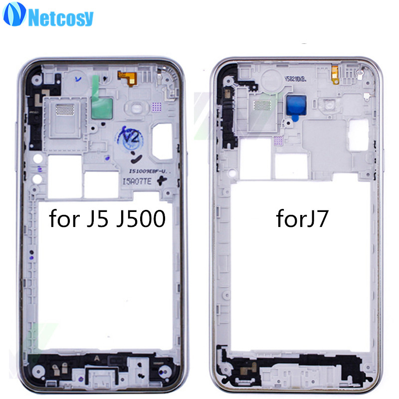 Netcosy Middle Plate Frame Bezel Housing Cover For Samsung Galaxy J5 J500 J500f J5008 J7 Middle Frame Replacemenrt Repair
