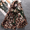 Bandana 2016 Korean European New Winter Long Women Scarves Wrap Shawl Voile Silk Scarf Leopard Print  All Match Pashmina Ring