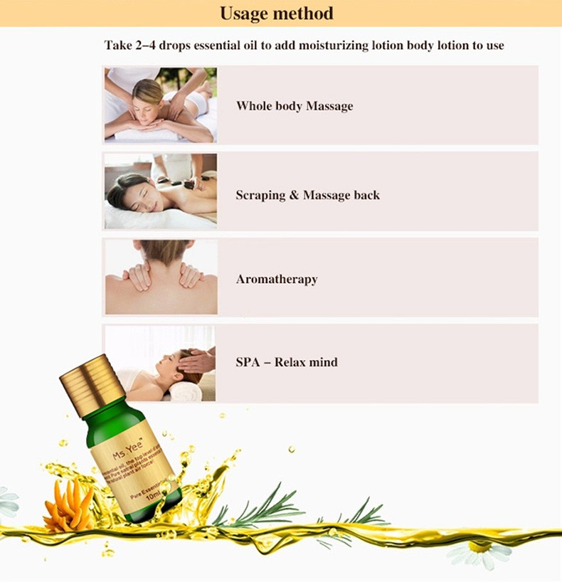 Essential Oils for Aromatherapy Diffusers Pure Plant Extracts Oil for Skin Care Anti Aging & Neck Bath Body Massage Olie 10Ml 6
