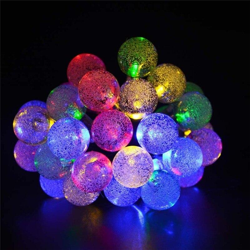 10M 50LED Globe String Light Crystal Bubble Balls Жатын - Мерекелік жарықтандыру - фото 5