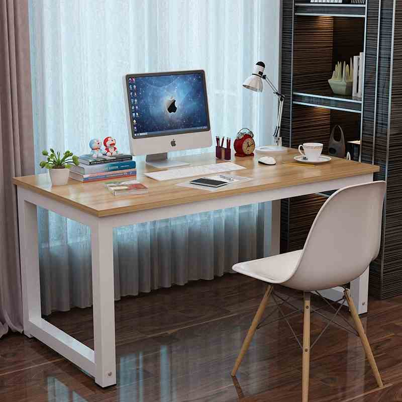 2019 Home Computer Desk Office 120 * 60 Cm Strong Thickening Heavy Metal Stents And Beautiful