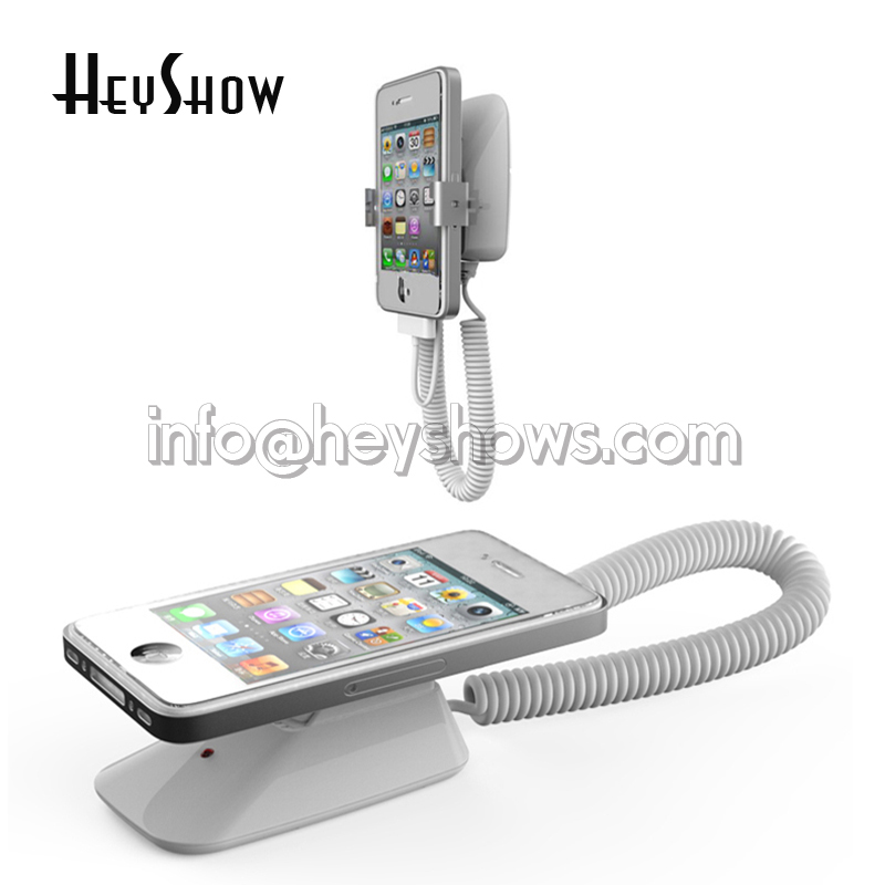 10x Mobile Phone Security Display Stand For Cell Phone Anti Theft Holder Alarm System With Clamp Mount On Wall Or Desk Thin