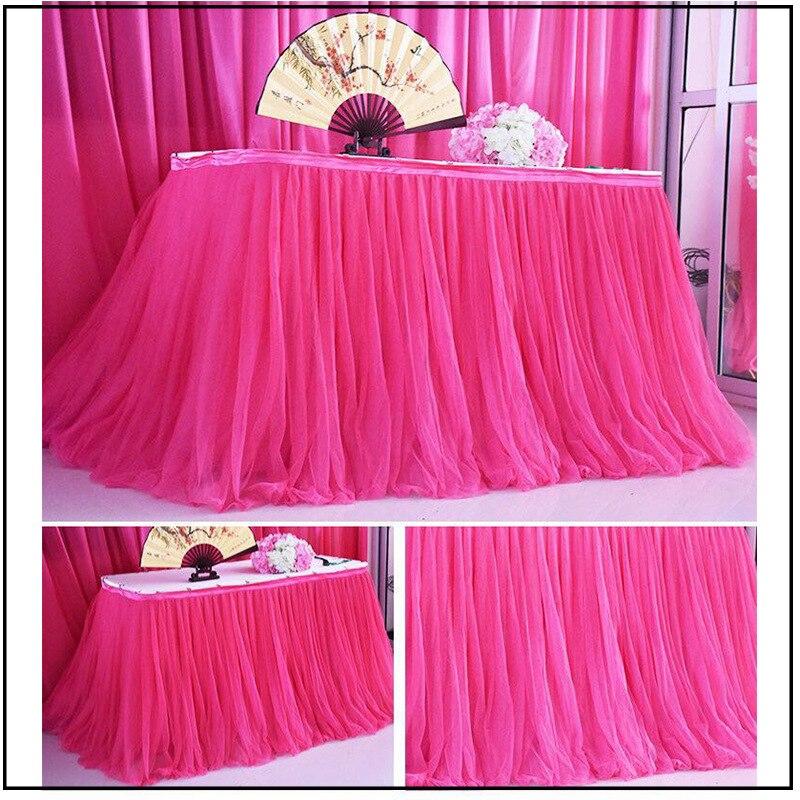 100x80cm tutú de fiesta de boda de tul falda vajilla tela bebé ducha partido decoración rodapié de mesa fiesta de cumpleaños Rodapié zócalo colorido extraíble pegatinas de pared niños decoración en mural para salón