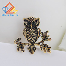Europe and the United States high fashion jewelry generous cute owl wild brooch corsage