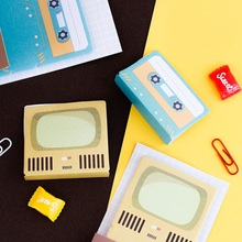 4 pcs Standing memo note Envelope Suitcase Typewriter Magnetic tape stickers planner Stationery Office School supplies A6195