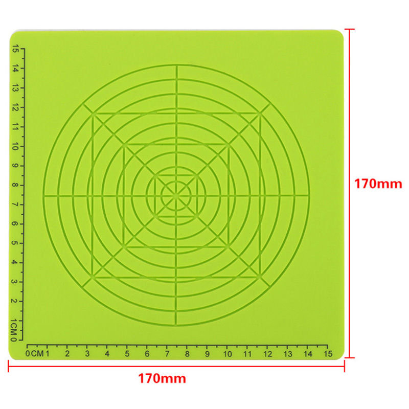 3D Printing Pen Silicone Design Mat Template Drawing Tools With Finger Caps 170x170x3Mm Silicone Pad Geometric Figure Drawing in 3D Printer Parts Accessories from Computer Office