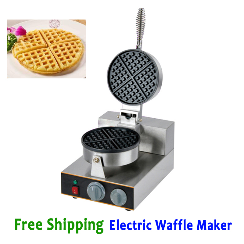Free Shipping Electric Waffle Machine Commercial Waffle Maker Kitchen Appliance Non-stick Pan Baker 220V jrgk kw99 3g smartwatch phone android 1 39 mtk6580 quad core heart rate monitor pedometer gps smart watch for mens pk kw88