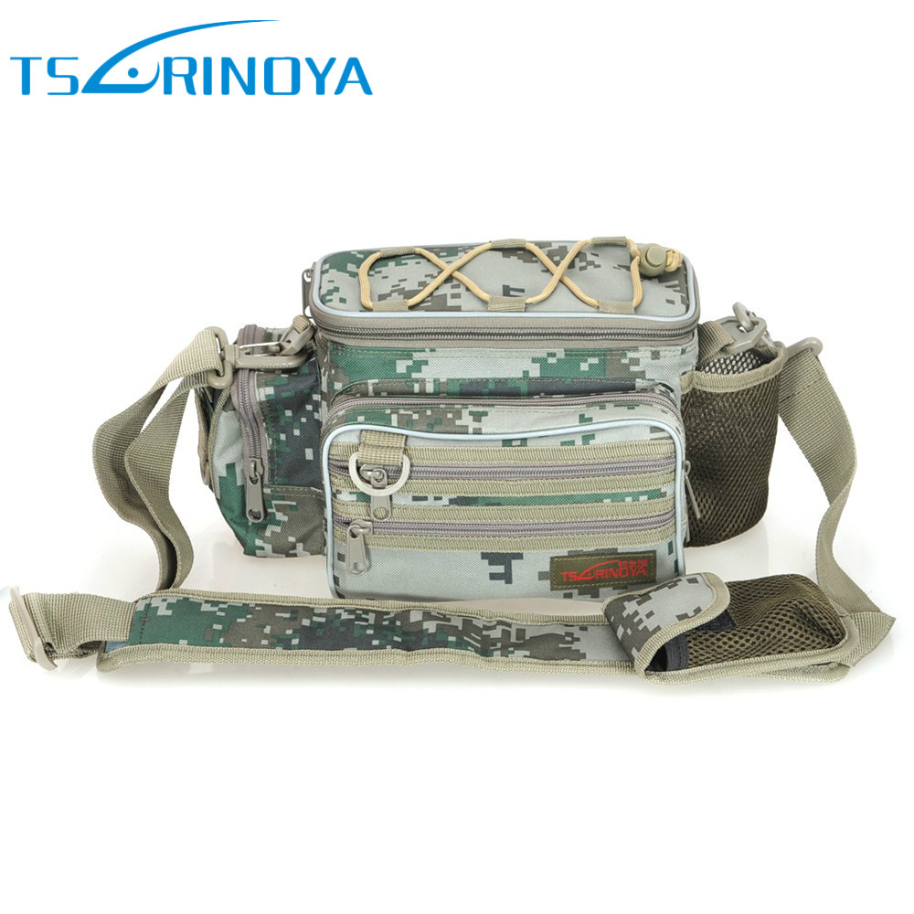 ФОТО Trulinoya 3Colors Outdoor Multi-Purpose Waist Backpack for Fishing Bag Bolsas Bag Carp Fishing Tackle Bag Messenger Sport Bag