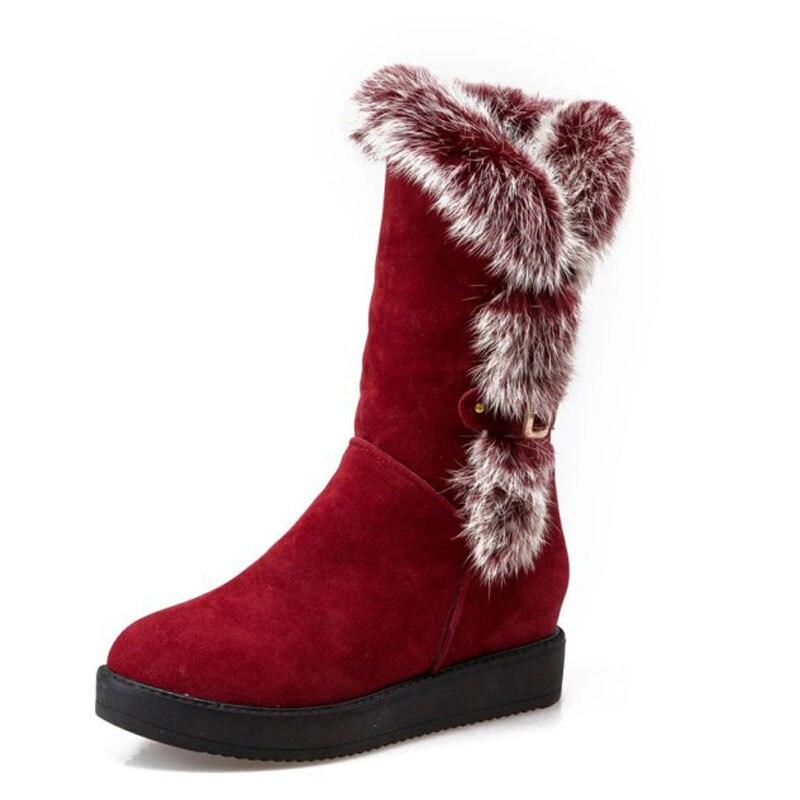 aliexpress buy mid calf boots rabbit fur snow