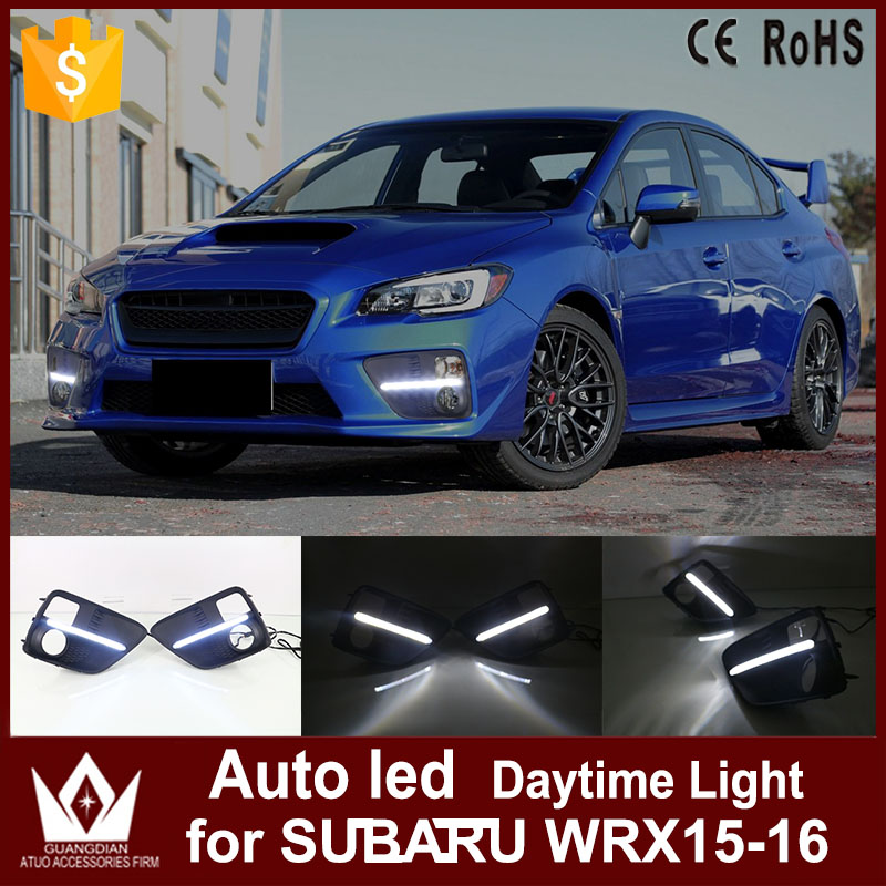 Tcart 1 Set High quality Auto LED Daytime Running Lights Car White DRL Fog Lamps Car Accessories For Subaru WRX 2015 2016 15-16 1 set led daytime running lights front driving fog lamps drl for subaru forester 2014