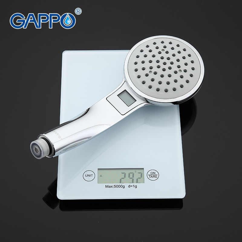 Gappo 1Pc Top Quality Colorful LED Shower head bathroom accessories Temperature Sensor Light water saving shower head GA22