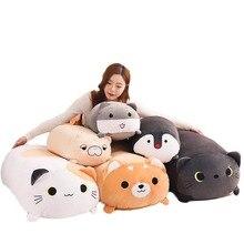 60cm 90cm 귀여운 고양이 시바 Inu 토토로 플러시 장난감 큰 대형 장난감 동물 부드러운 인형 검은 고양이 베개 키즈 장난감 생일 선물