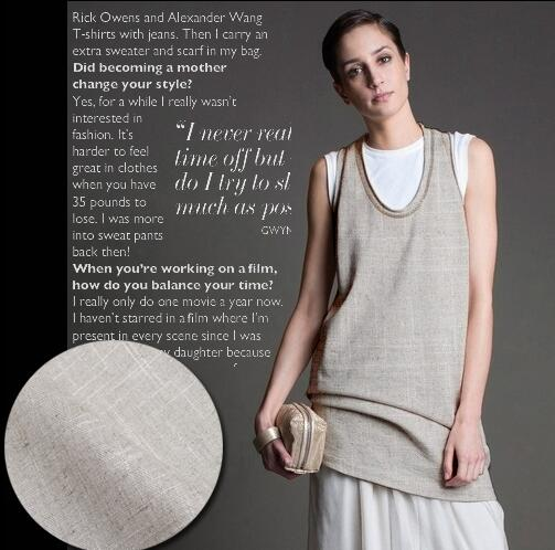Simple beauty of the natural color of Milan imported raw materials of the original eco linen cloth dress fabric