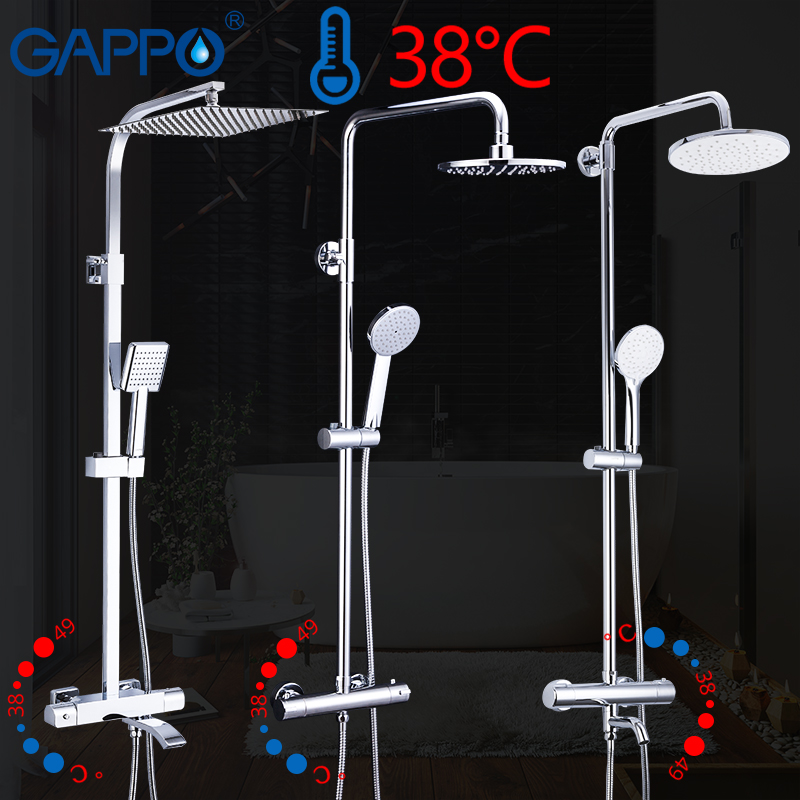 gappo-thermostatic-shower-system-shower-set-rainfall-faucet-hot-and-cold-black-shower-faucet-bathtub-thermostatic-shower-mixer
