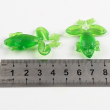 5 Pcs/lot Soft Fishing Lures Ray 4.5cm 2.5g Frog Bait 3D Eyes Wobbler Multicolor Artificial Fishing Lure Bait Fishing Tools