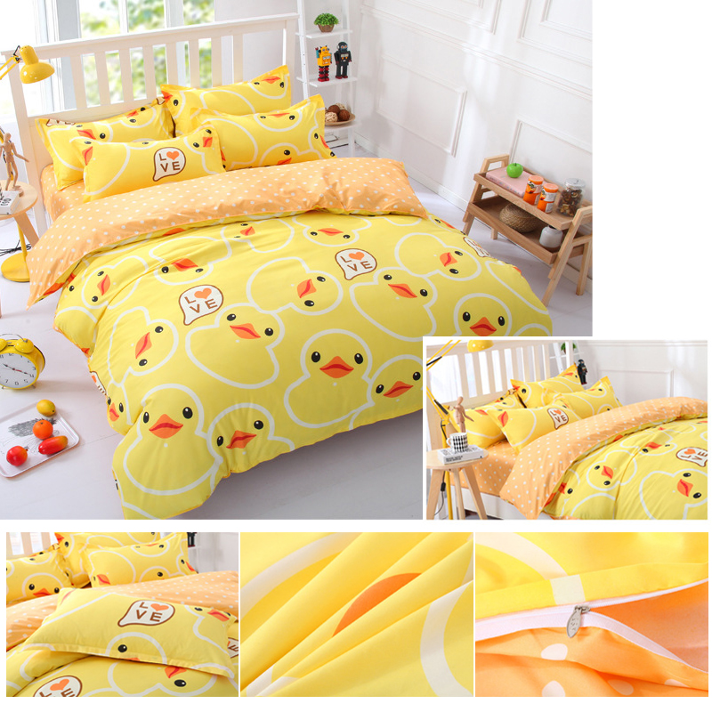 1Set Bed Sheets Fashion Aloe Cotton Creative Duck Cartoon Bedding Yellow  New Hot In Bedding Sets From Home U0026 Garden On Aliexpress.com | Alibaba Group