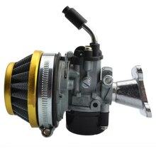 Goofit ATV 49cc производительность 19 мм CARB Карбюратор воздушный фильтр в сборе для 2-ход 47cc 49 см мини карман велосипед группа-76-желтый