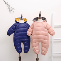 Baby Rompers Newborn Baby Boy Girl Thick Warm Duck Down Winter Snowsuit Baby Cute Hooded Jumpsuit Newborn Baby Boy one piece
