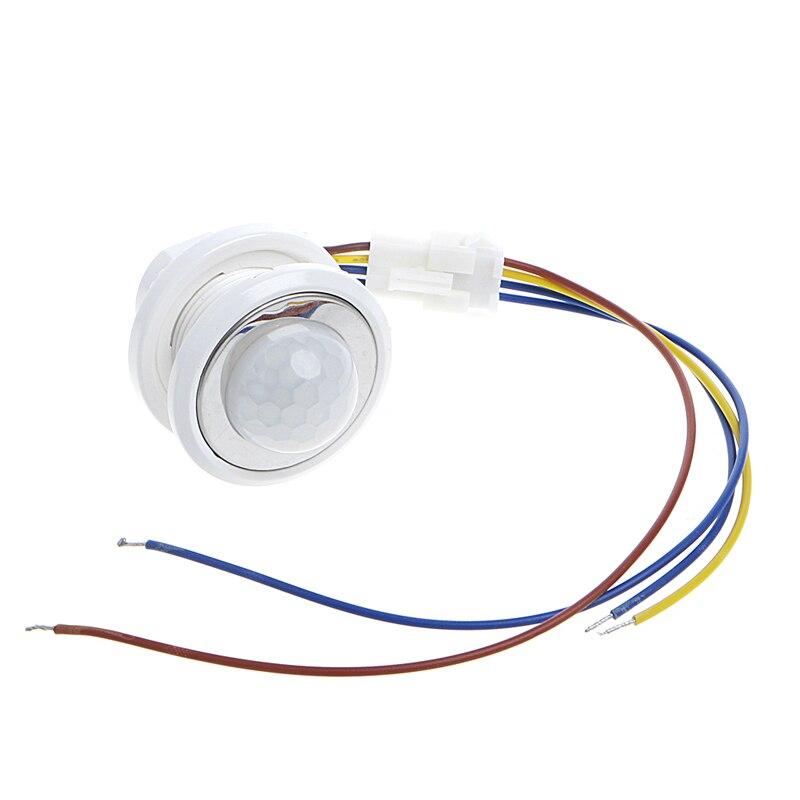 40mm LED PIR Détecteur Infrarouge, Détecteur de Mouvement avec Temporisation Réglable