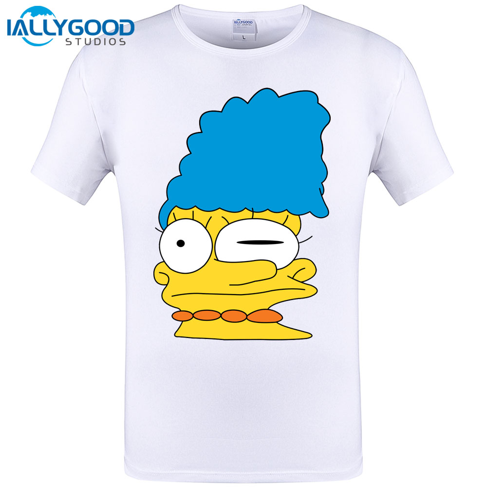 Homer Smeared Design Cool Mens Tshirt Summer Short Sleeve O-neck T-shirt Hipster Character Tops Tee Plus Size S-6XL