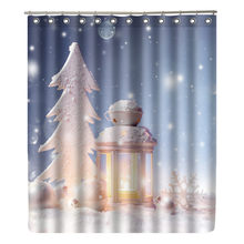 WONZOM Snow Tree Shower Curtain Waterproof Winter Bathroom Curtain Modern Bath Curtain With 12 Hooks Accessories Home Christmas(China)