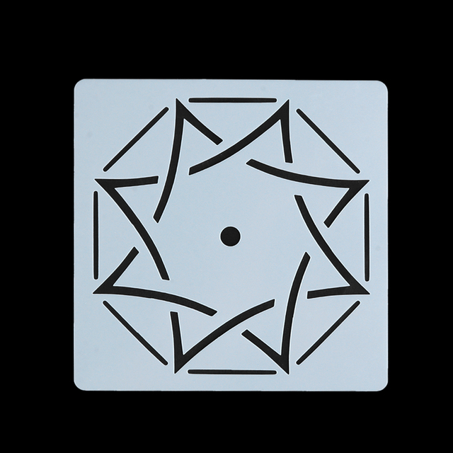 Octagon Mandala Stencil for painting and dotting