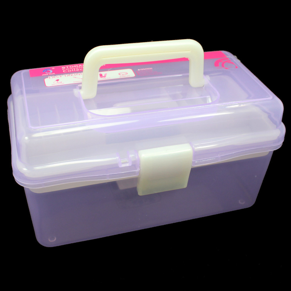 Plastic craft storage boxes - Aliexpress Com Buy Multi Plastic Empty 2 Layer Storage Case Box Nail Art Craft Makeup Collection From Reliable Makeup Manufacturer Suppliers On Anmas