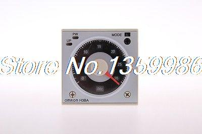 10PCS Multifunctional Time Timer relay H3BA-N8H 8PIN 2NO 2NC AC220V rotary knob dpdt 2no 2nc 8p 0 30seconds timing time relay dc 24v ah3 2