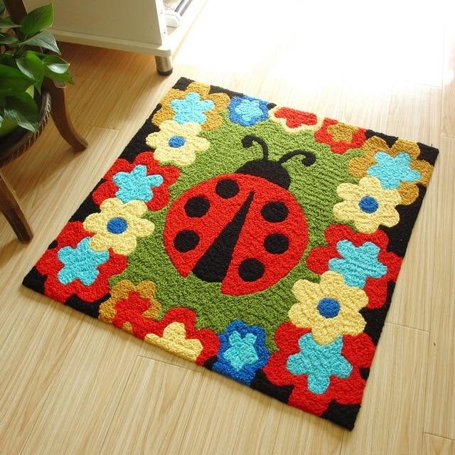 Beautiful flowers cartoon door mat anti slip bedroom for Tapete en ingles