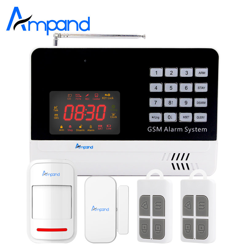 New Digital Wireless wired APP Control Anti-theft Home Security Burglar GSM Alarm System Auto Dialer SMS Telephone Check Balance new wireless wired gsm voice home security burglar android ios alarm system auto dialing dialer sms call remote control setting