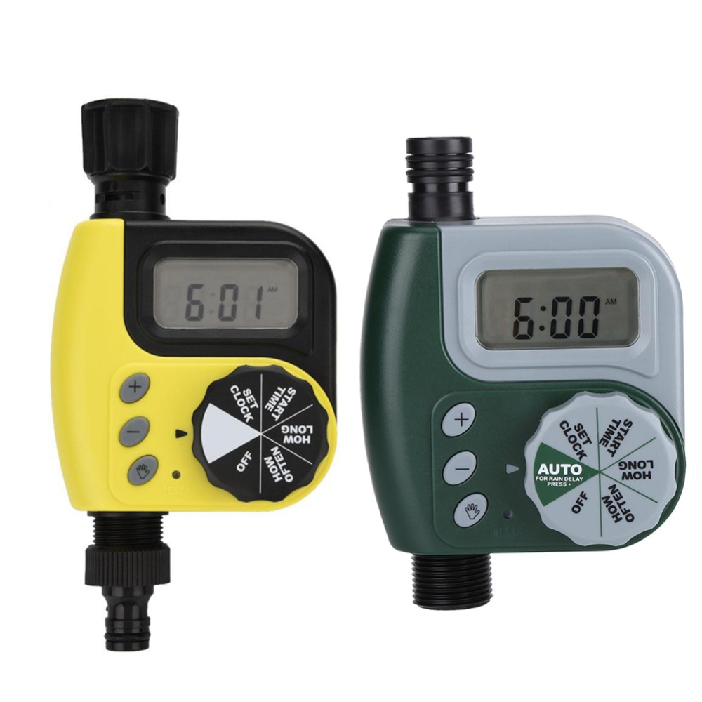 Hose Timer Watering-Hose Lcd-Display Home-Ball-Valve Digital Garden Automatic Electronic