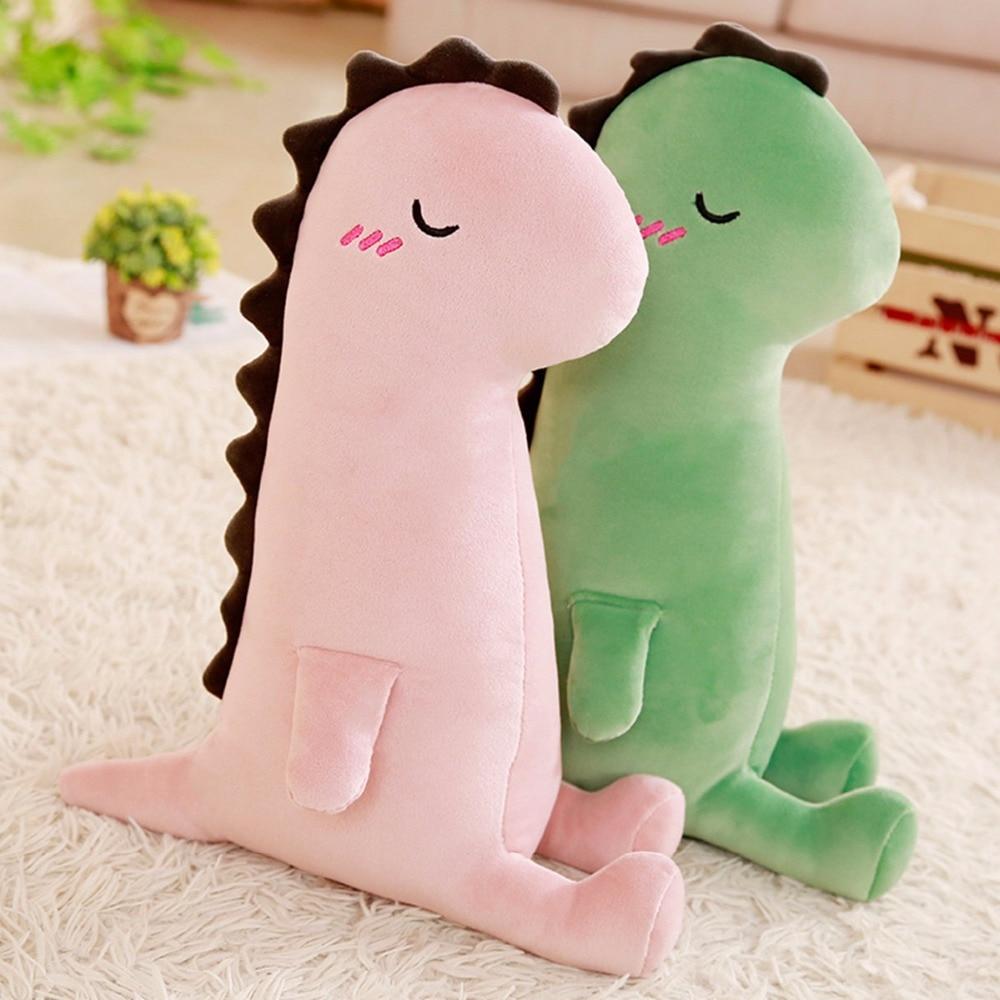 1pc 40cm Cute Dinosaur Plush Pillows Cartoon Animal Stuffed Toy Dolls For Kids Children Boys Birthday Gift Creative Sofa Cushion