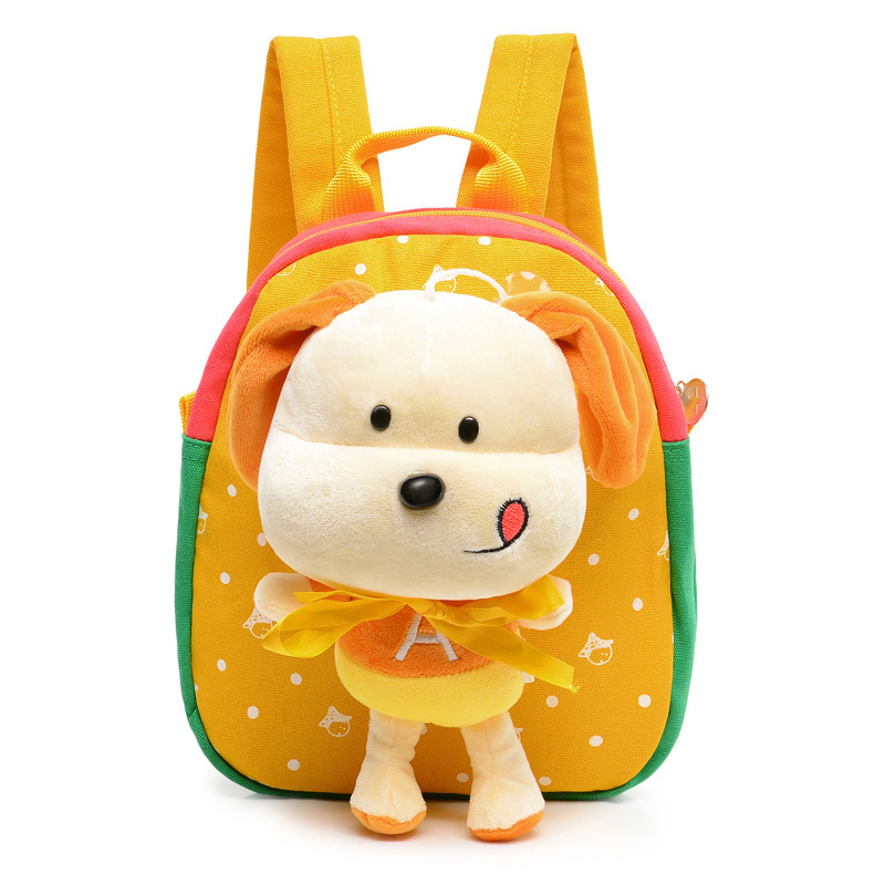 Hot Christmas special gift Children school bags cute cartoon dog backpacks for baby girl kindergarden kid bags Free Shipping