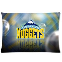 16x24 20x26 20x30 Inch Soft Flannel Rectangle Cushion Pillow Cases NHL Denver Nuggets Picture Printed