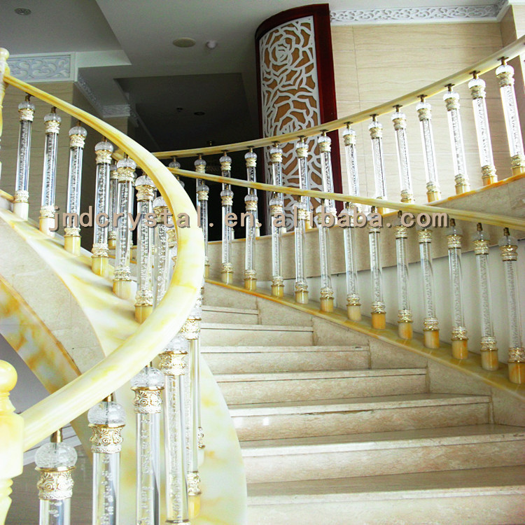 Crystal Glass Stairs Railings Designs Indoor & Outdoor