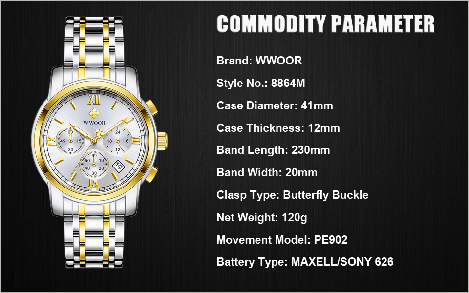 New Gold Quartz Wristwatch Men Watches Top Brand Luxury Stainless Steel Male Wrist Watch Golden Clock Relogio Masculino (1)