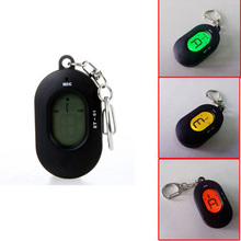 Wholesale 5X SYDS Mini Key Ring LCD Digital Chromatic Tuner with Mic Black
