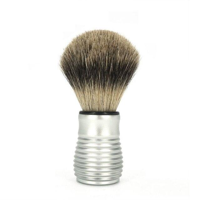 Top Standard Threaded Men's Beard Cleaning Tools Shaving Brush Aluminium Alloy Handle Blaireau Brush Cleaning Appliance Tools